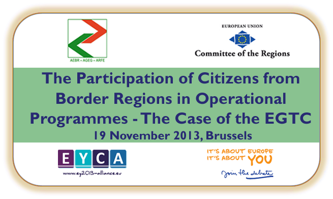 Save the date: 19 November, seminar on the participation in Operational Programmes focusing on the EGTC