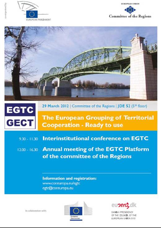 'The EGTC – Ready to use' proceedings of the interinstitutional conference on EGTC